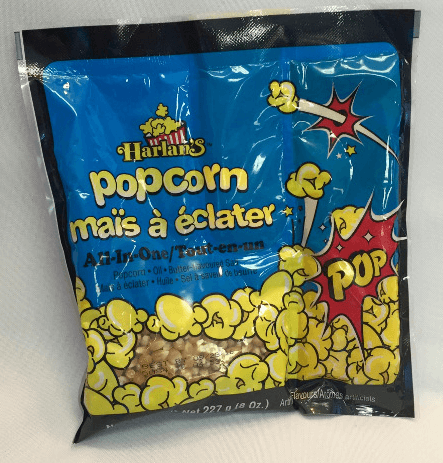 Harlans all in one popcorn pack